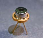 Single mode laser diode, 150mW @ 850nm, QLD-850-150SB