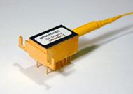 Wavelength stabilized single mode fiber coupled laser diode 0.5mW @ 635, QFBGLD-635-1