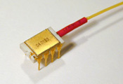Fiber coupled light emitting diode, 20uW@1550nm, model number QFLED-1550-20