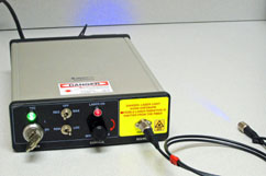 Single Channel Multimode Fiber Coupled Laser Diode Source, 90mW@405nm, QTFS-405-LD-M