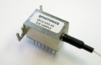 Wavelength stabilized single mode fiber coupled laser diode 20mW @ 1550nm, QDFBLD-1550-20DIL